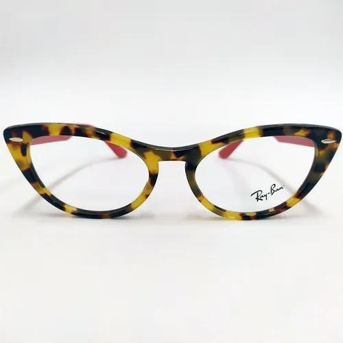 Armação para Óculos de Grau - Ray-Ban Nina - Haste Vermelha