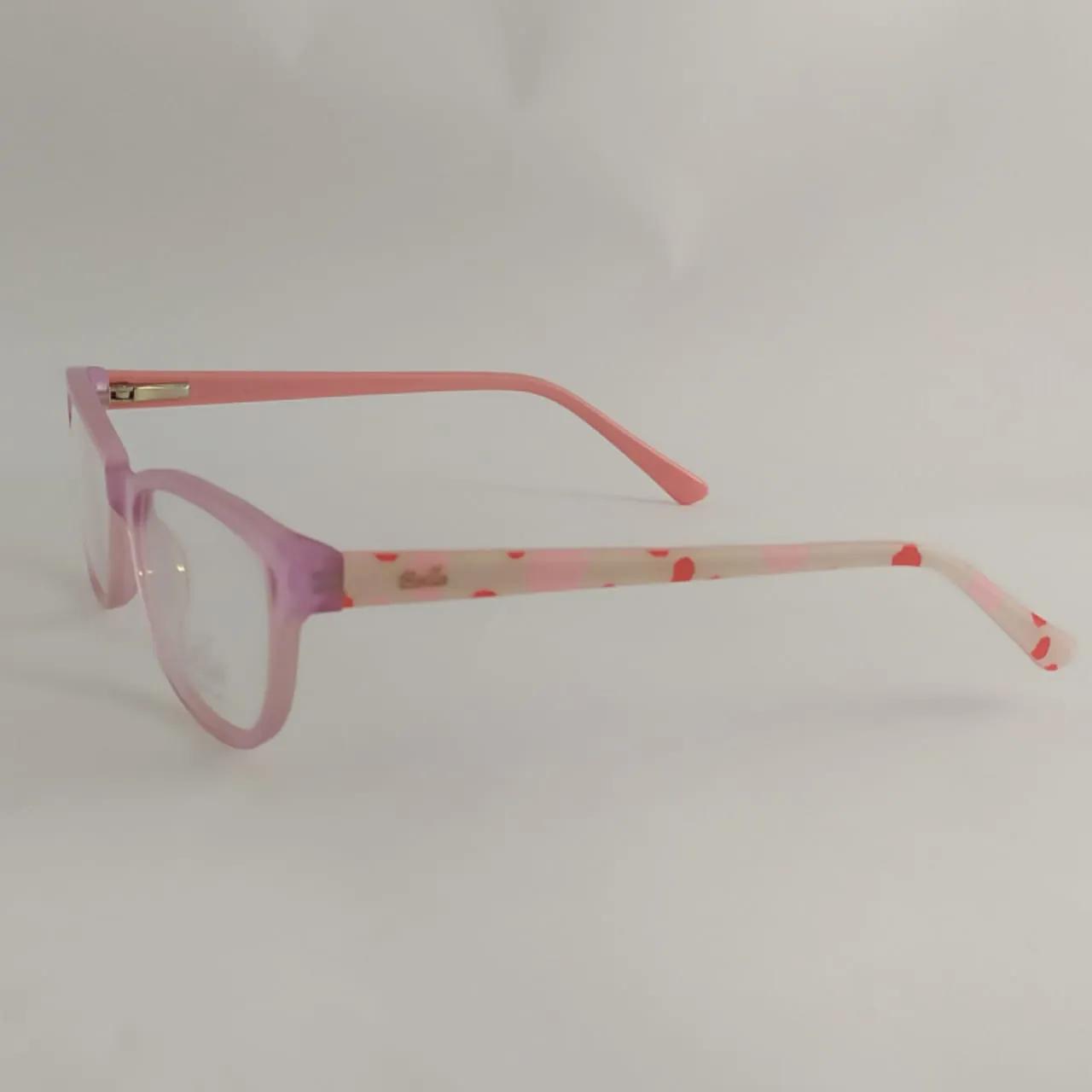 Armação para óculos infantil - Menina- Rosa