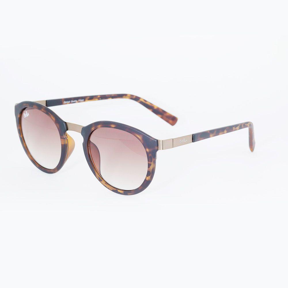 Óculos de Sol Bella Redondo Marrom Tartaruga 77340