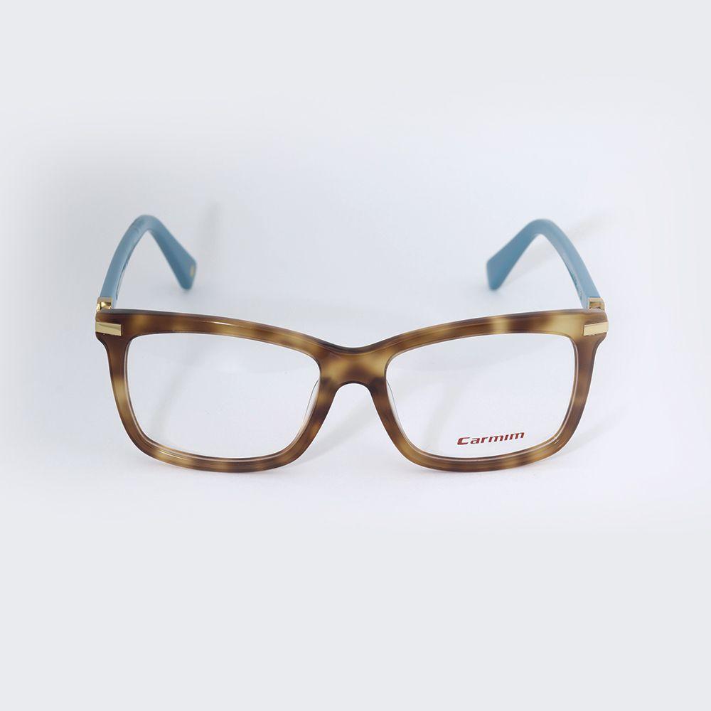Óculos de Grau Carmim Tartaruga com Haste Azul 41016 ... c448dff464