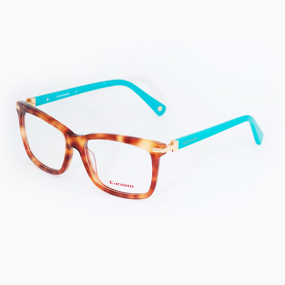 Óculos de Grau Carmim Tartaruga com Haste Azul 41016