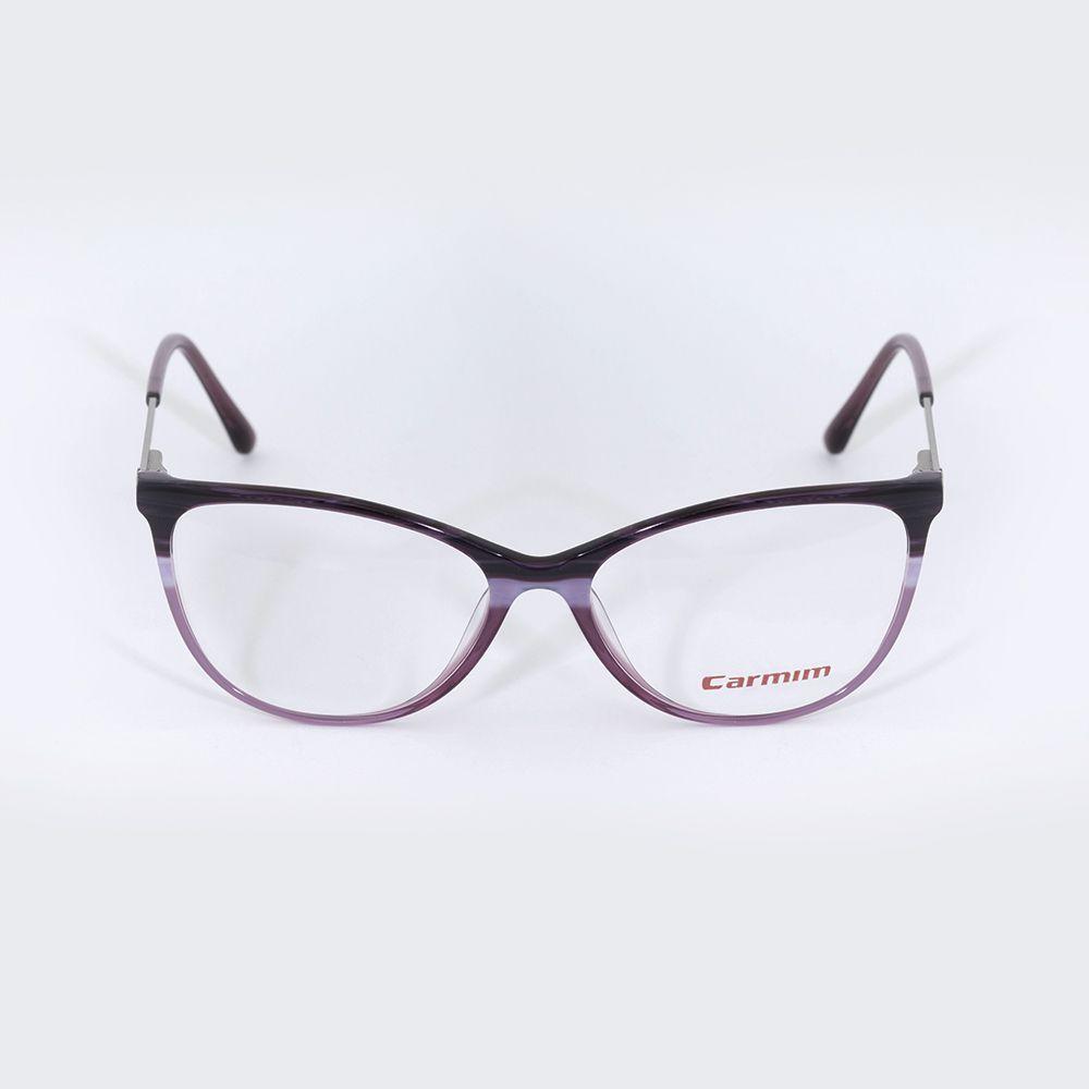 Óculos de Grau Carmim Gatinho Roxo Degrade 41228