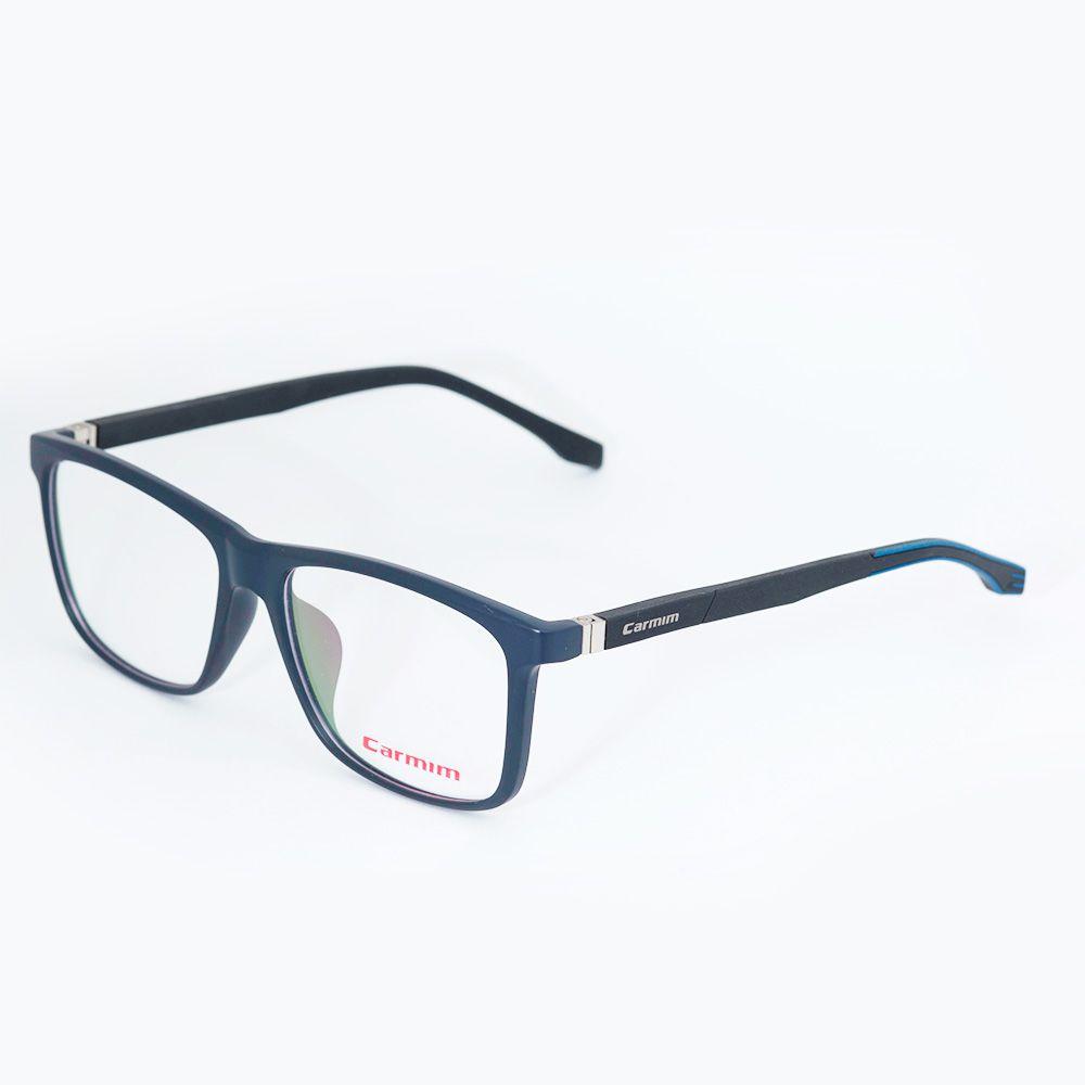 Óculos de Grau Carmim Preto e Azul Fosco 41232