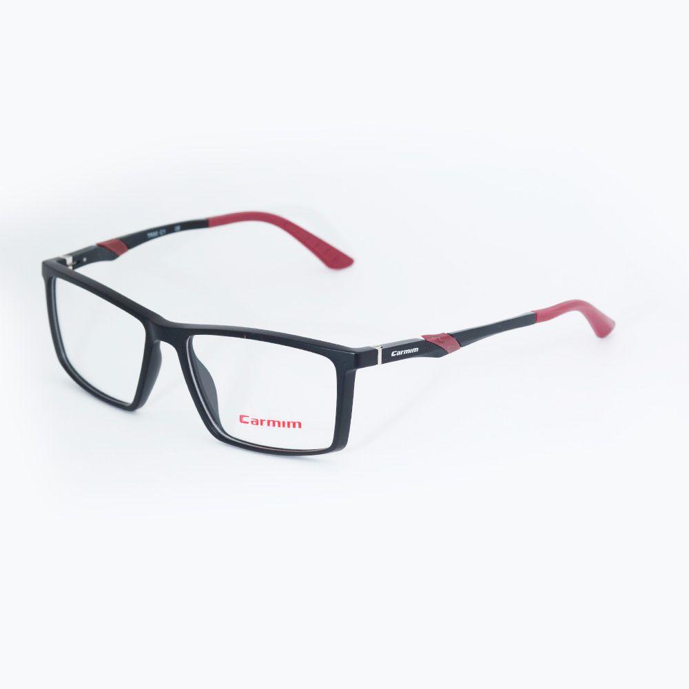 Óculos de Grau Carmim Preto Fosco 41244