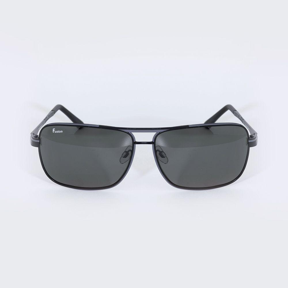 Óculos de Sol Fusion Metal Cinza Chumbo Polarizado