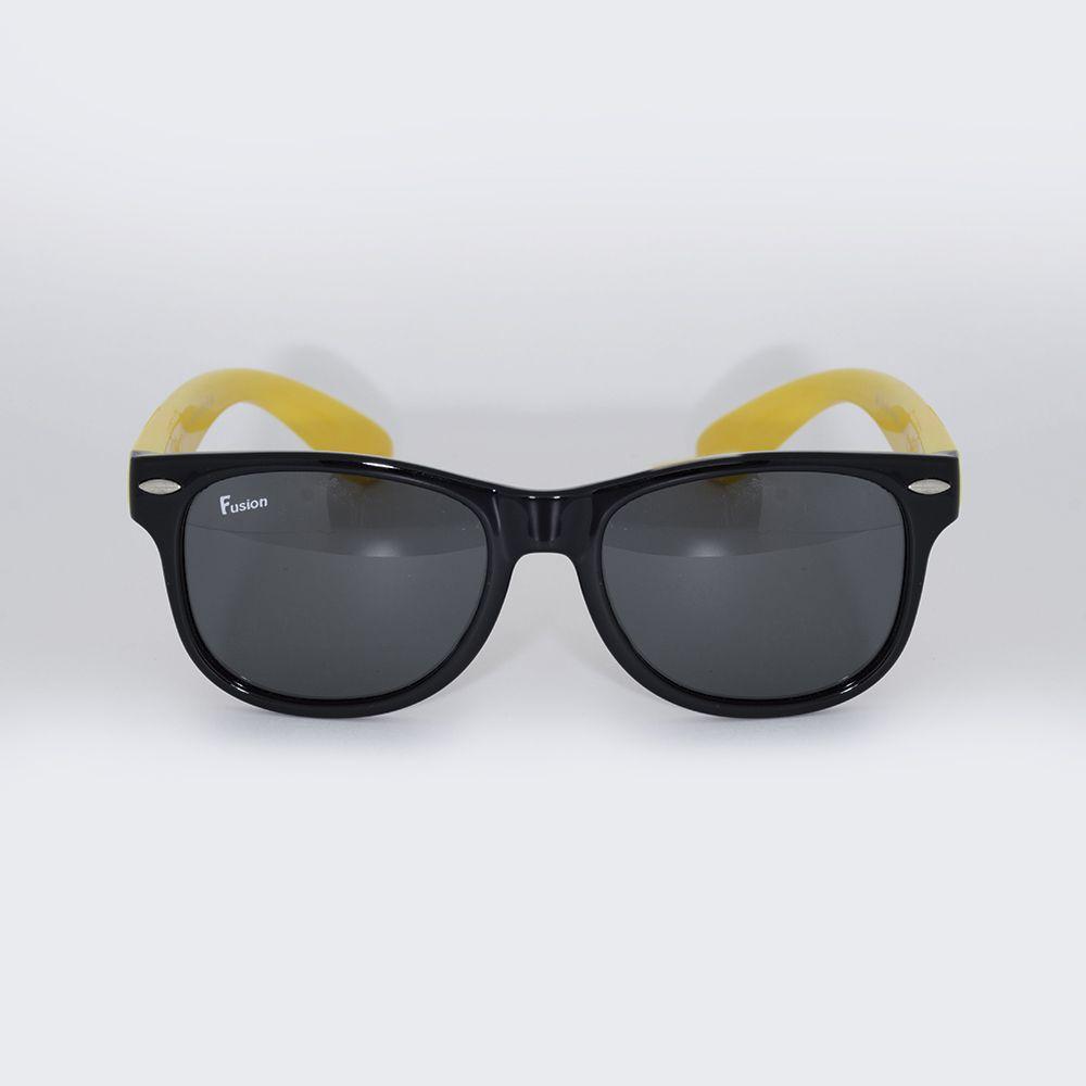 Óculos de Sol Fusion Preto e Amarelo S830
