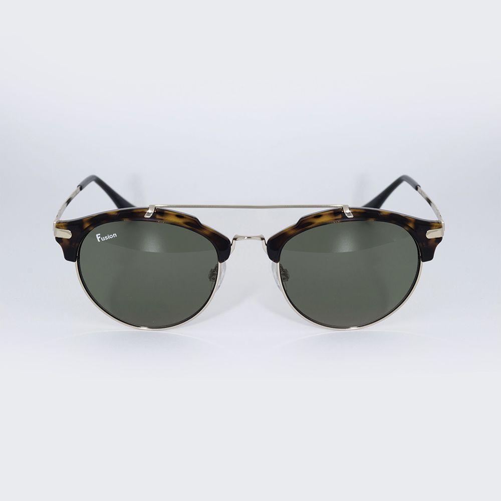Óculos de Sol Fusion Tartaruga Metal Dourado 71689 ... 9967e2c3f5