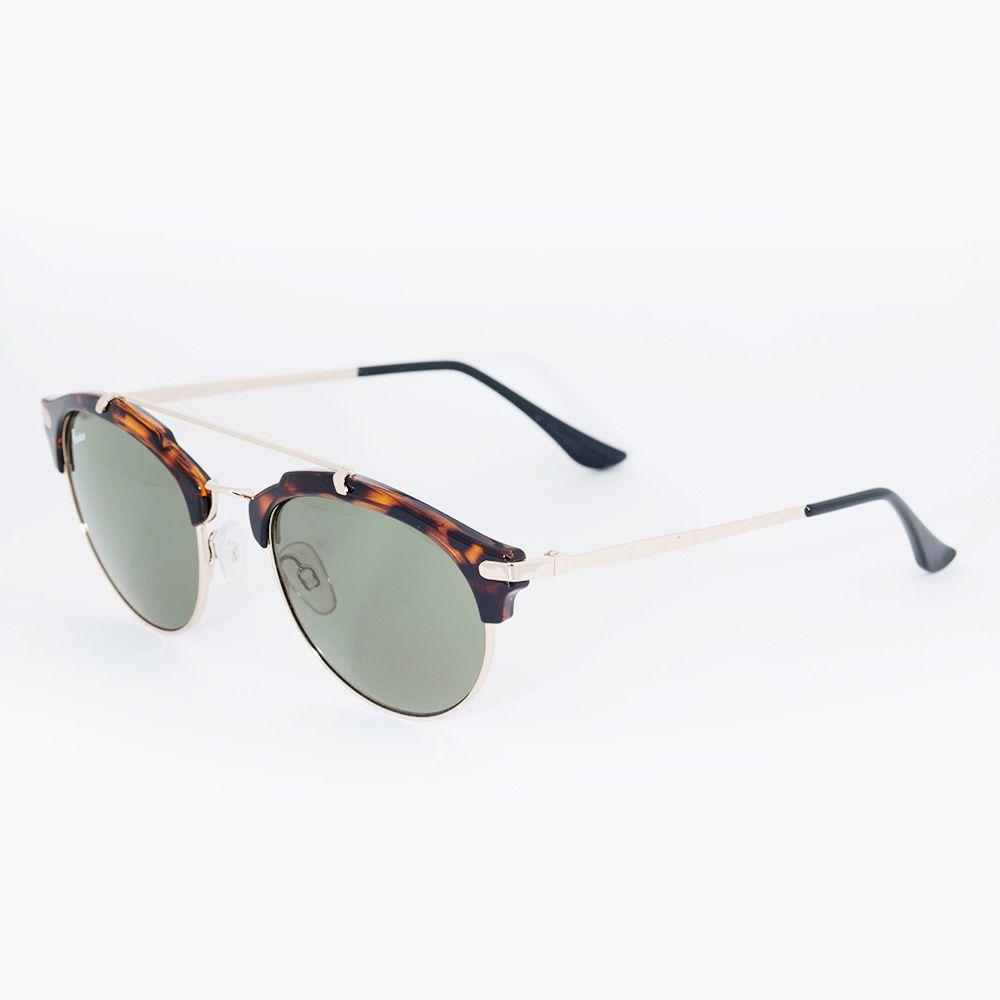 Óculos de Sol Fusion Tartaruga Metal Dourado 71689