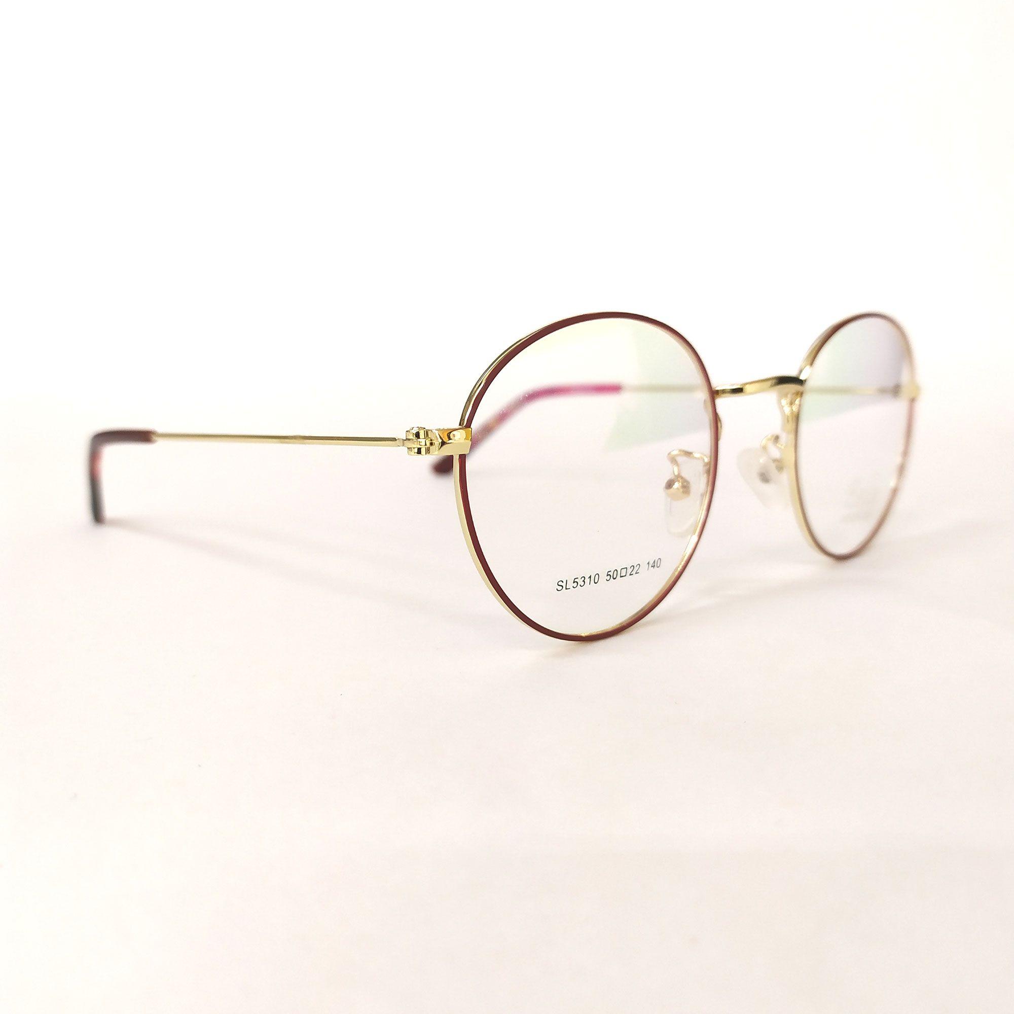 Óculos de Grau Bella Vermelho e Dourado SL5310