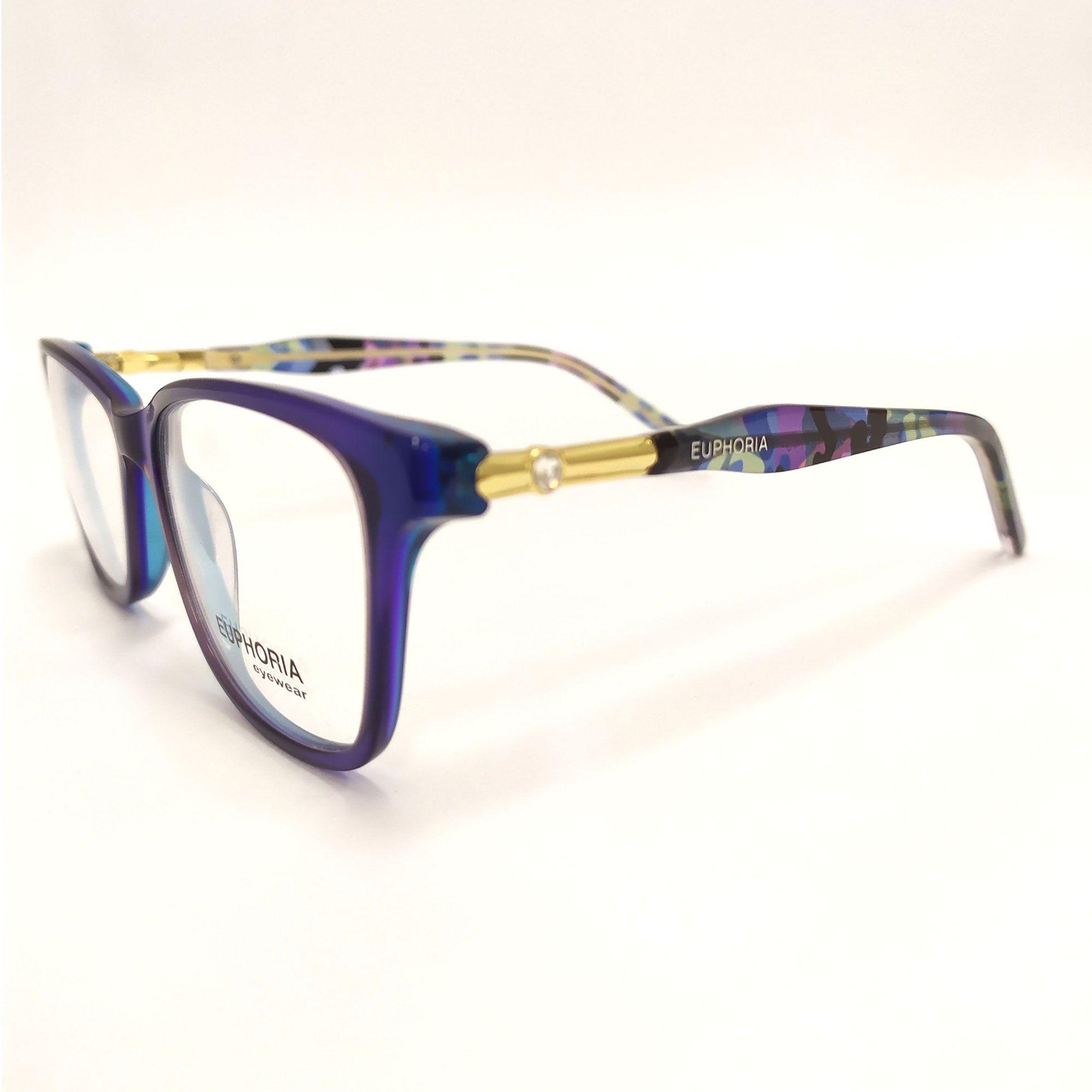 Óculos de Grau Euphoria Azul com Cristais SWAROVSKI BB2020 C4