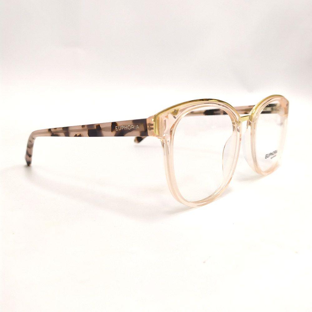 Óculos de Grau Euphoria Nude e Dourado RM10021