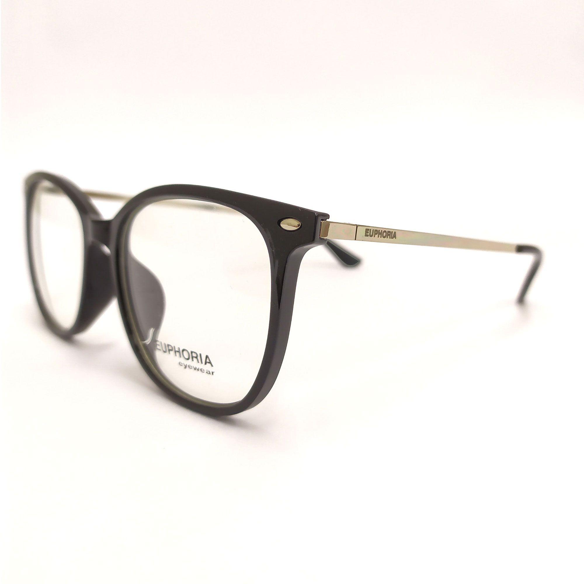 Óculos de Grau Euphoria Preto  18006 C2