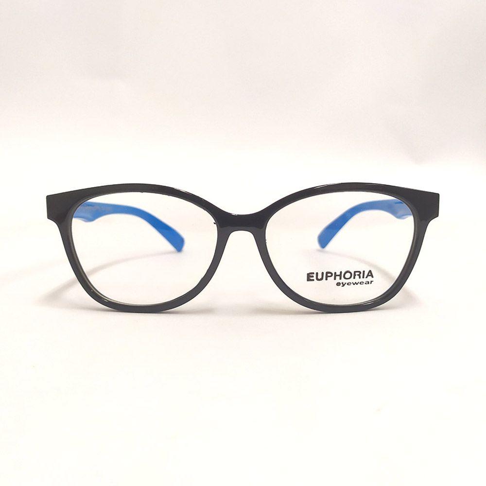 Óculos de Grau Euphoria Preto Azul S8142