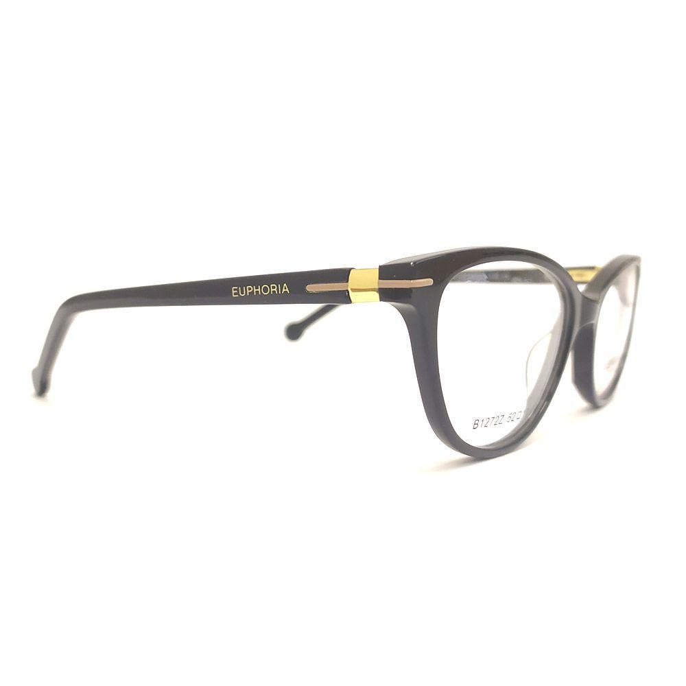 Óculos de Grau Euphoria Preto B1272Z