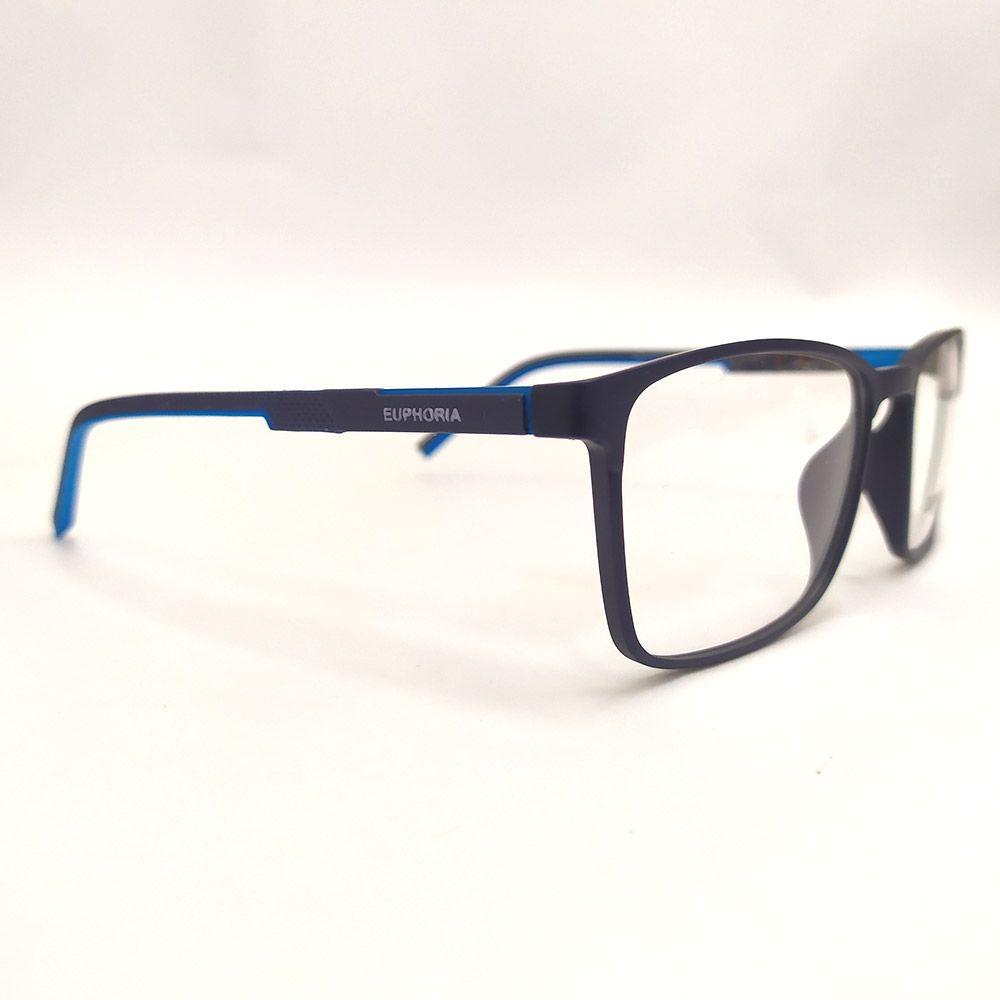 Óculos de Grau Euphoria Preto e Azul 89018