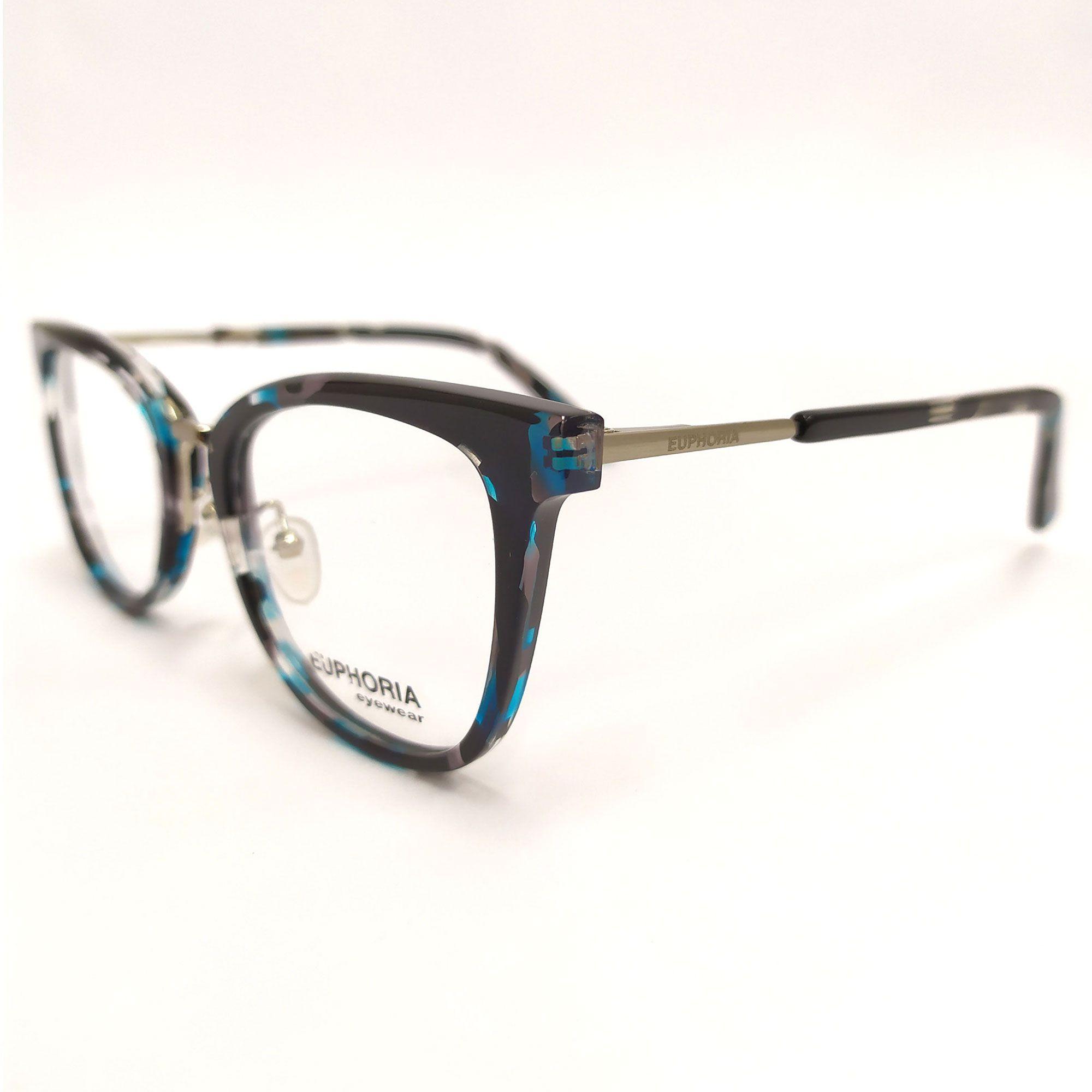 Óculos de Grau Euphoria Preto e Azul  BB2016 C3