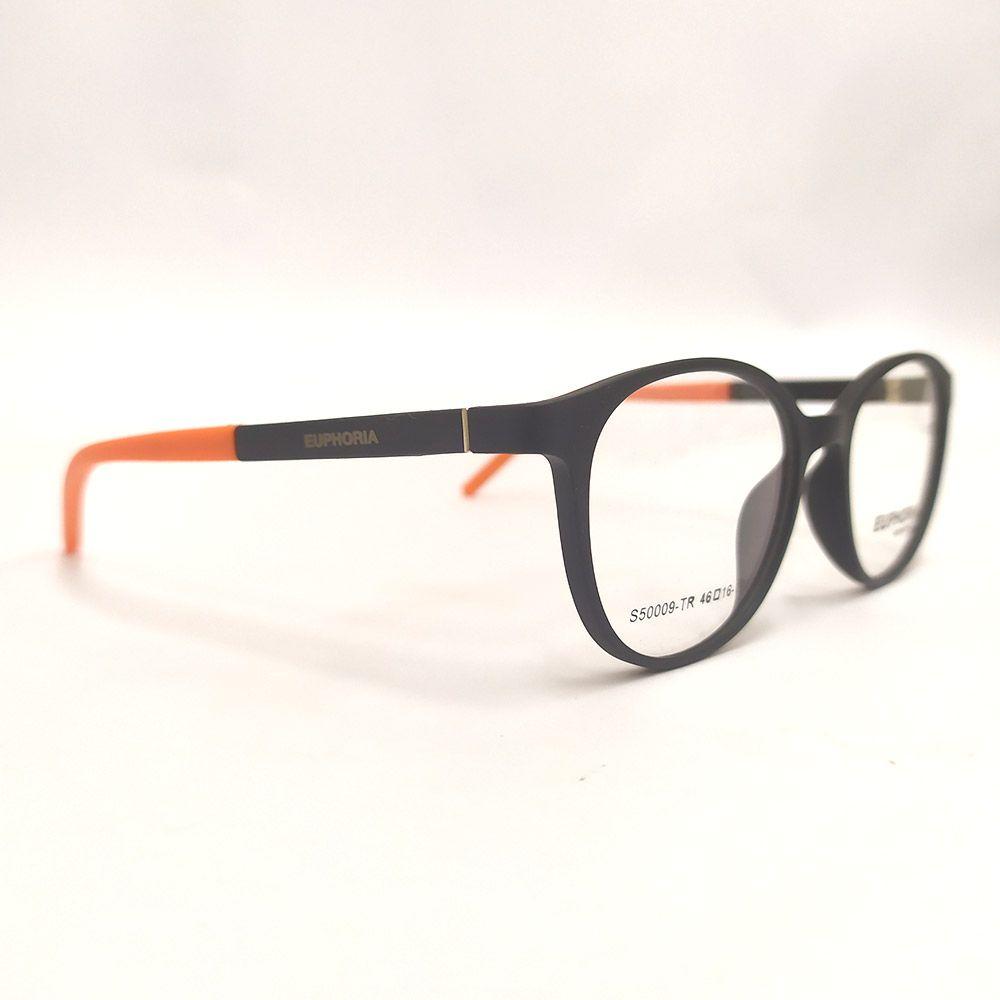 Óculos de Grau Euphoria Preto e Laranja S50009