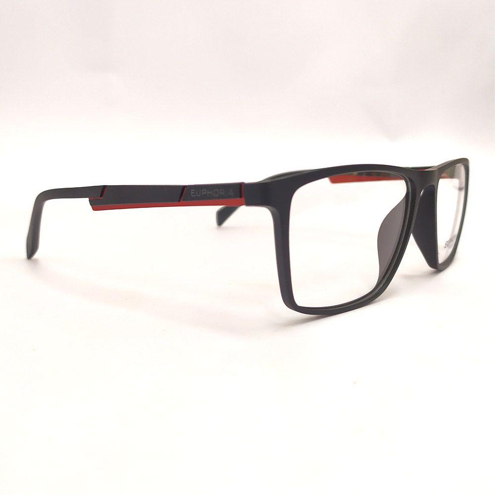 Óculos de Grau Euphoria Preto e Vermelho 89070