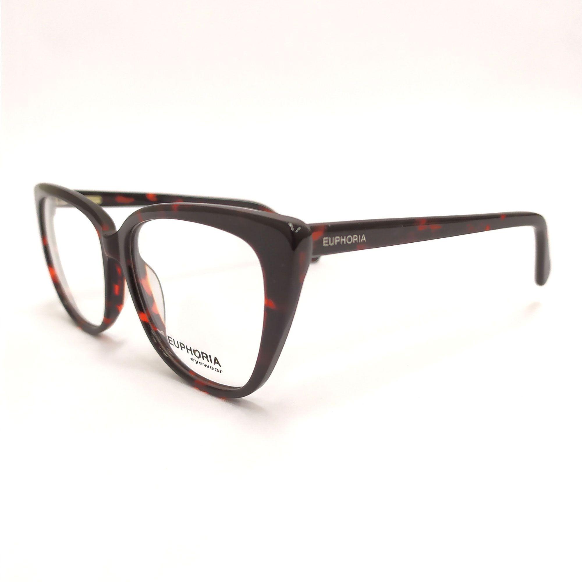 Óculos de Grau Euphoria Preto e Vermelho RM1748 C3