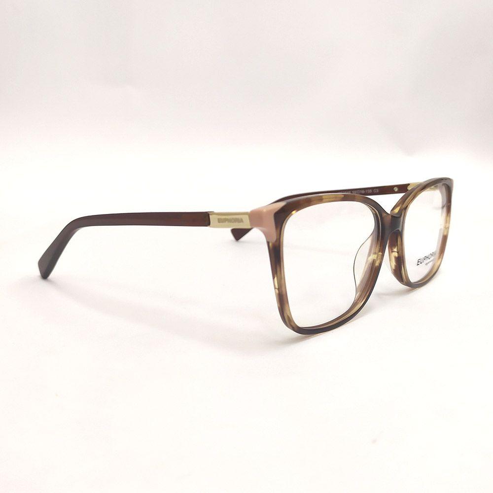 Óculos de Grau Euphoria Tartaruga e Nude MC3645
