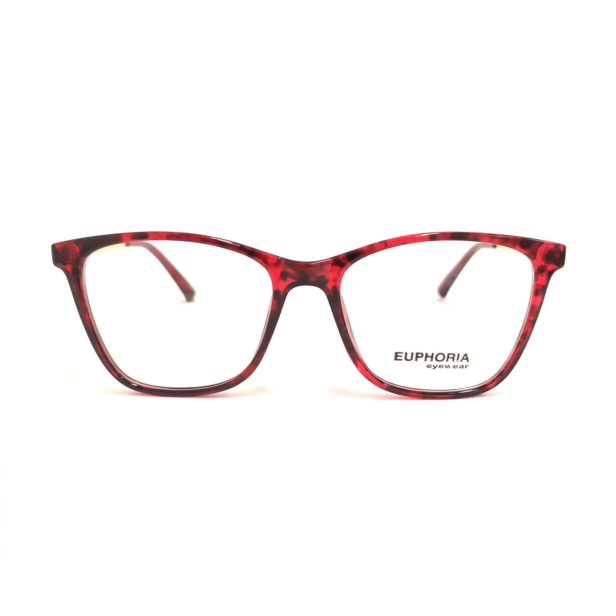 Óculos de Grau Euphoria Vermelho TR7251 C229
