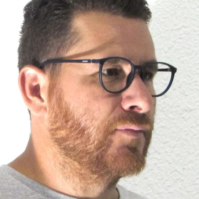 Óculos de Grau Fusion - Azul e Preto