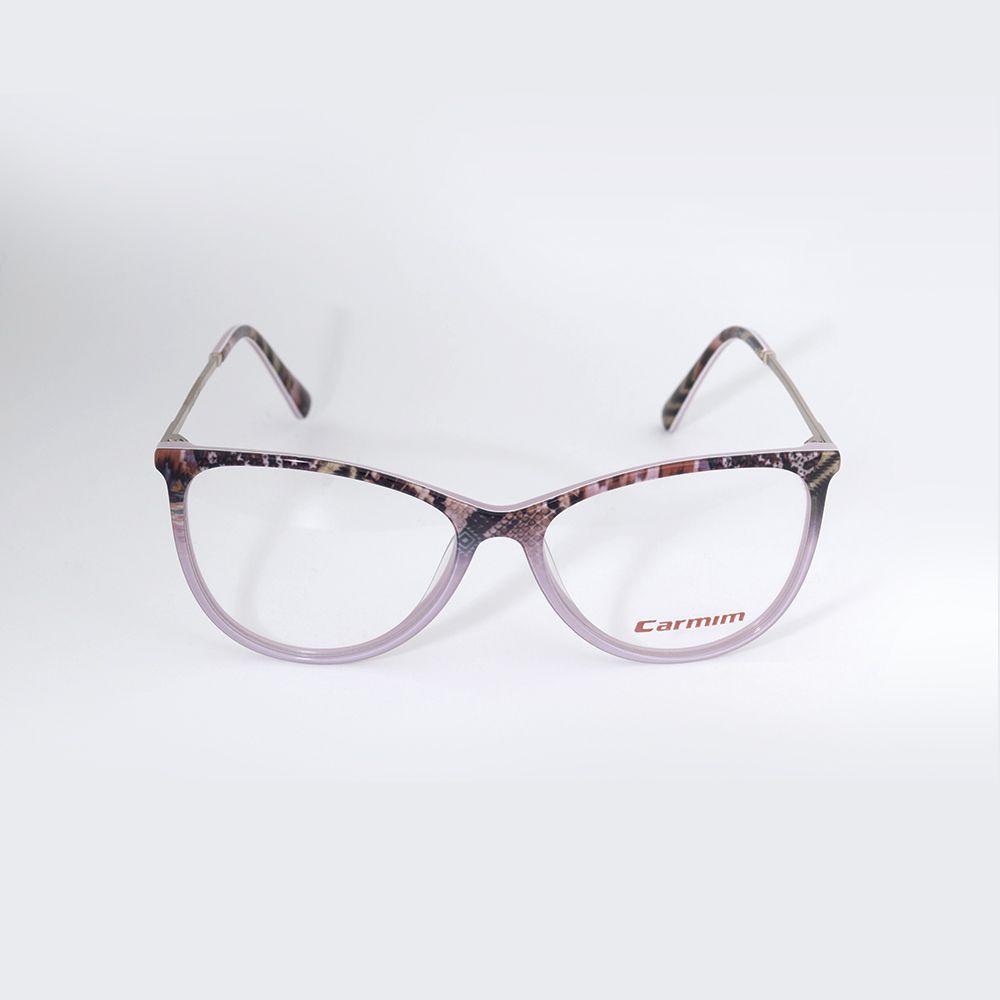 Óculos de Grau Carmim Gatinho Rosa com Estampas 41219