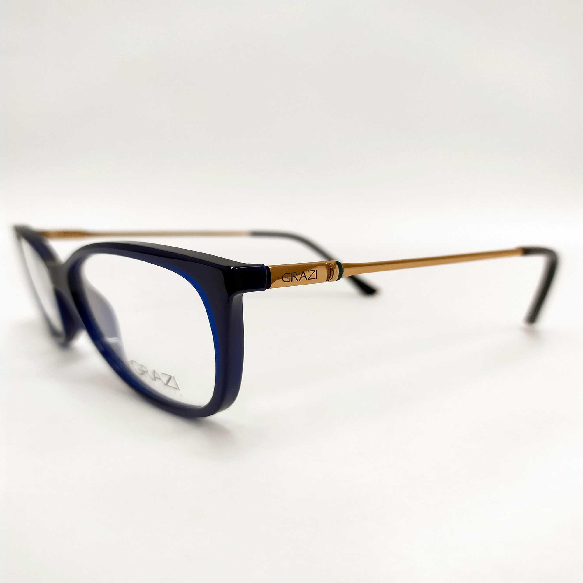 Óculos de Grau Grazi Azul 3033 E810
