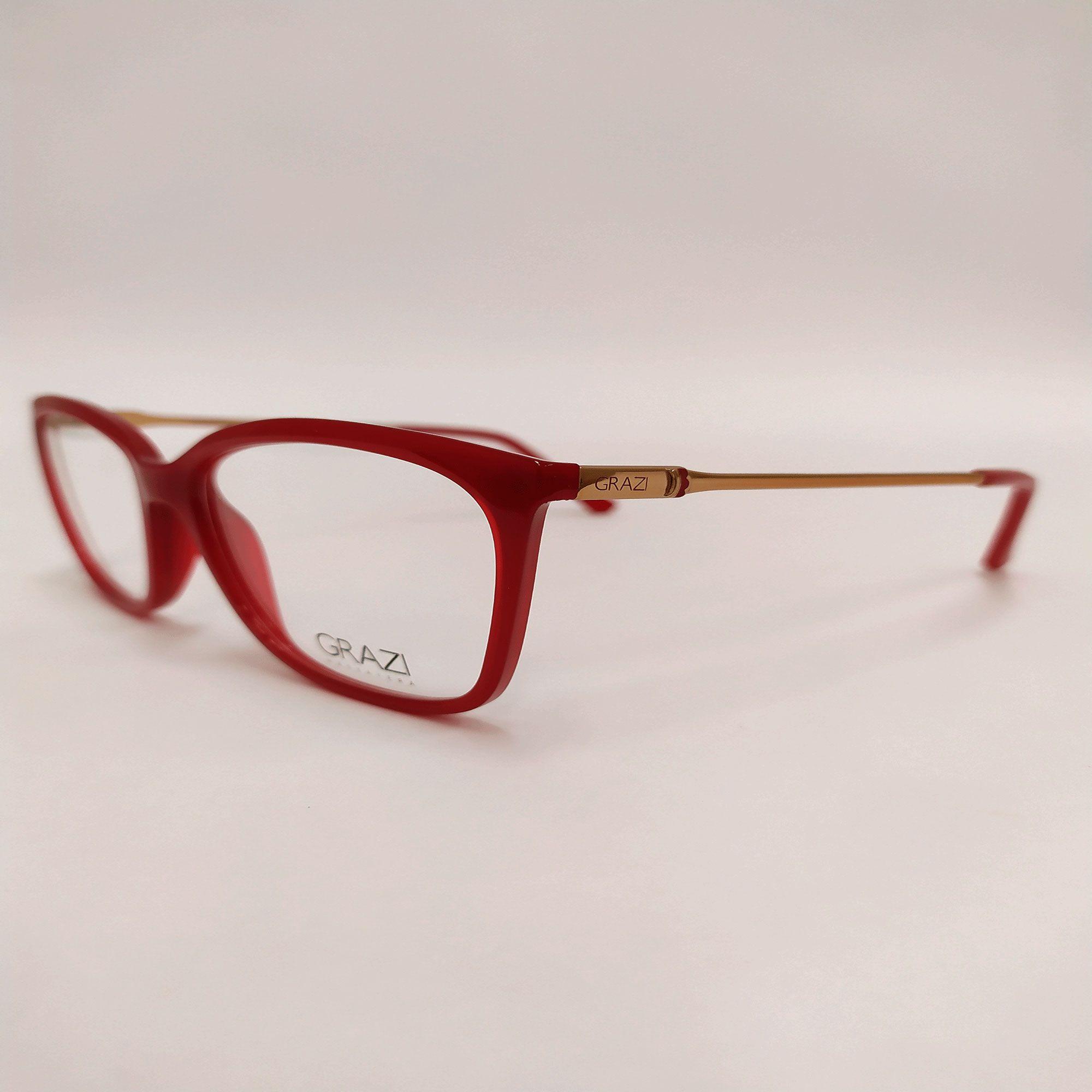 Óculos de Grau Grazi Vermelho 3016 E898