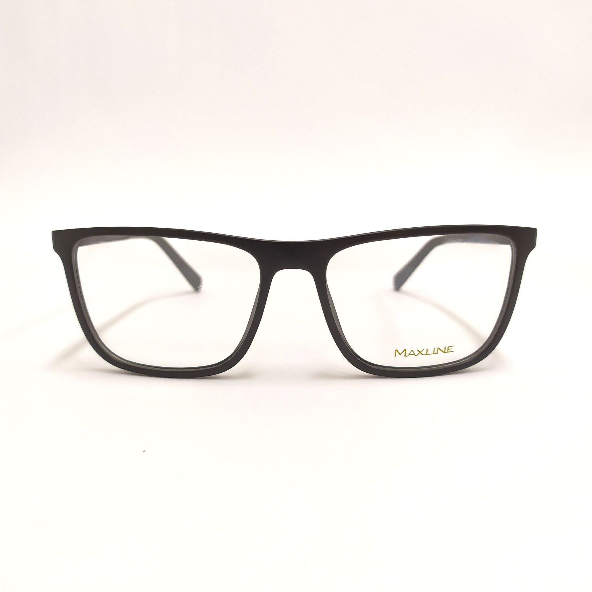 Óculos de Grau Maxline Preto Fosco ML1014
