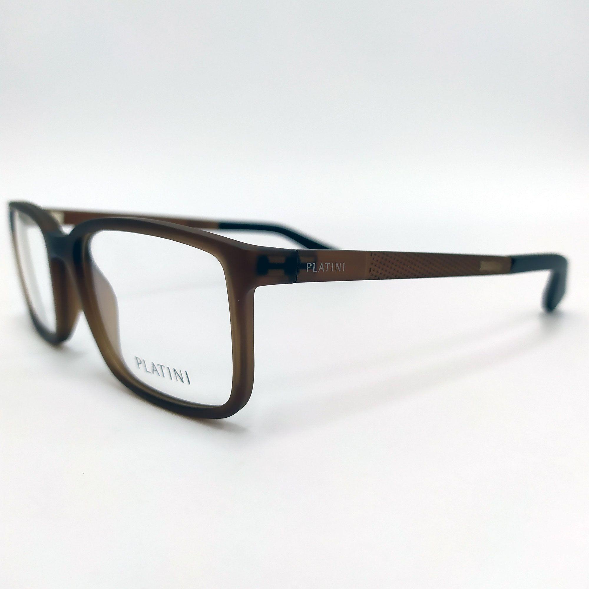 Óculos de Grau Platini Marrom fosco P93145 F986