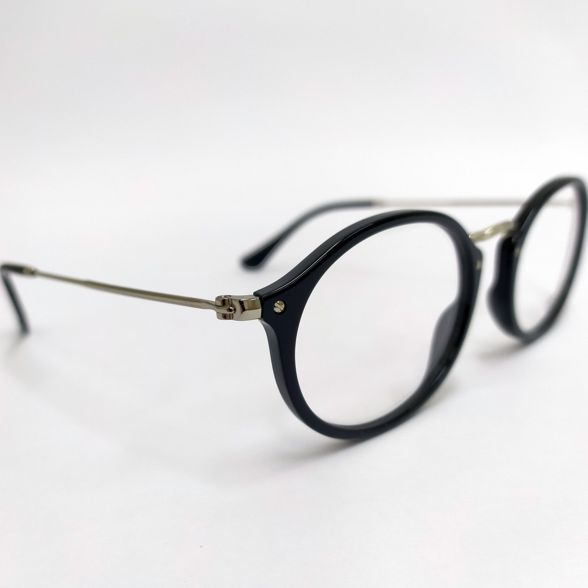 1cdf3c81b Óculos de Grau Ray-Ban Preto com Haste Prata 2547V - Óticas de Sá