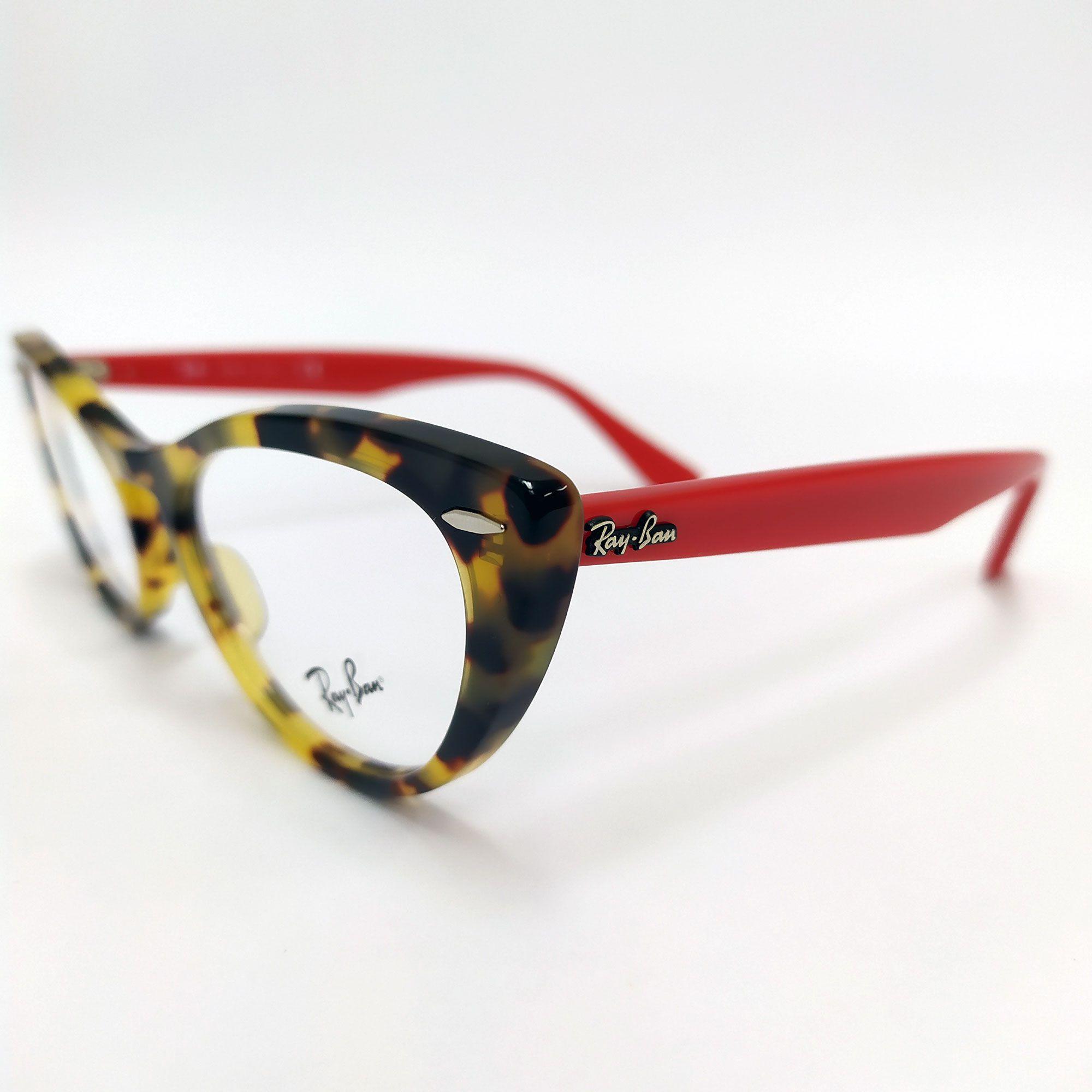 Óculos de Grau Ray-Ban Tartaruga com Haste Vermelha 4314-V NINA 5937