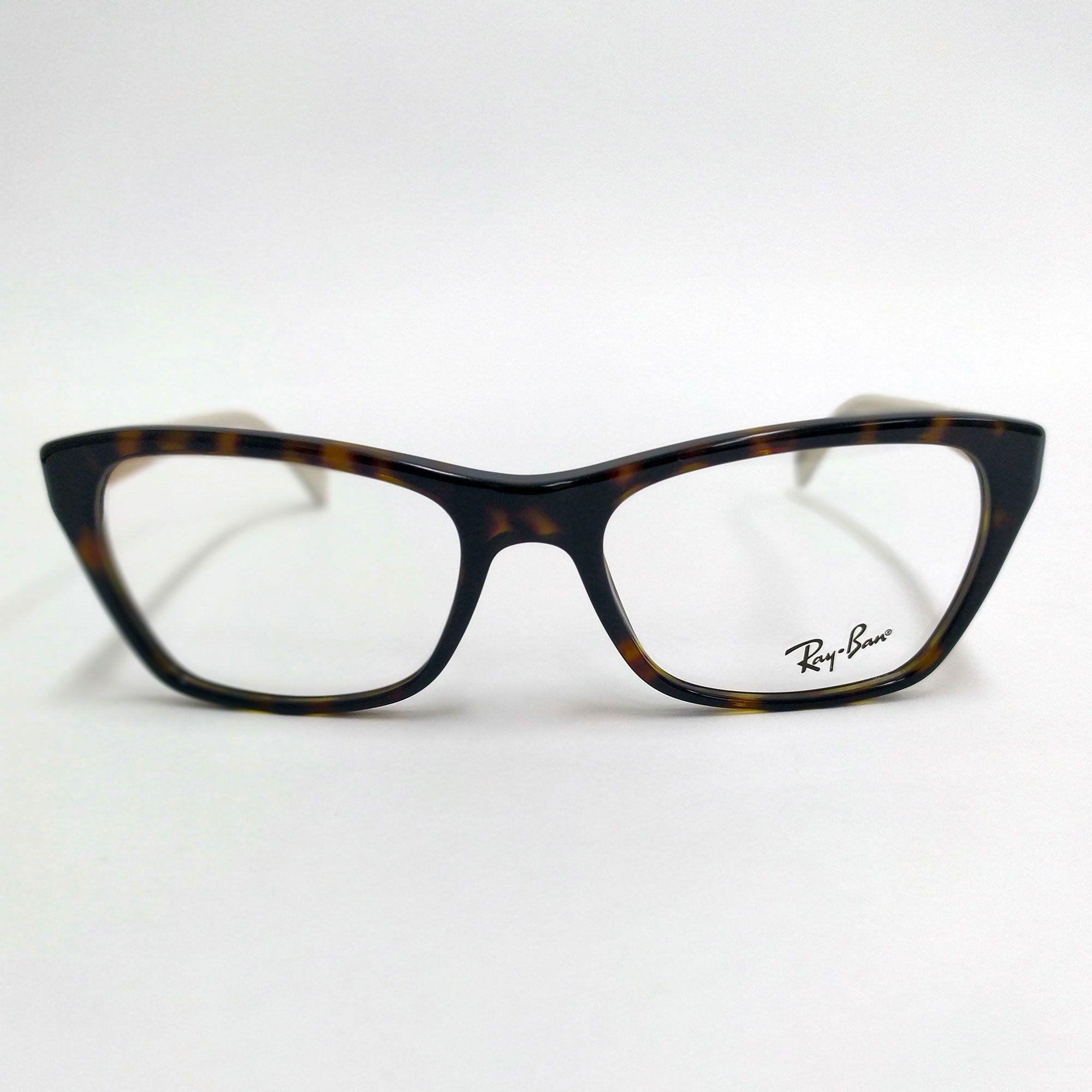 Óculos de Grau Ray-Ban Tartaruga com Haste Nude 5298