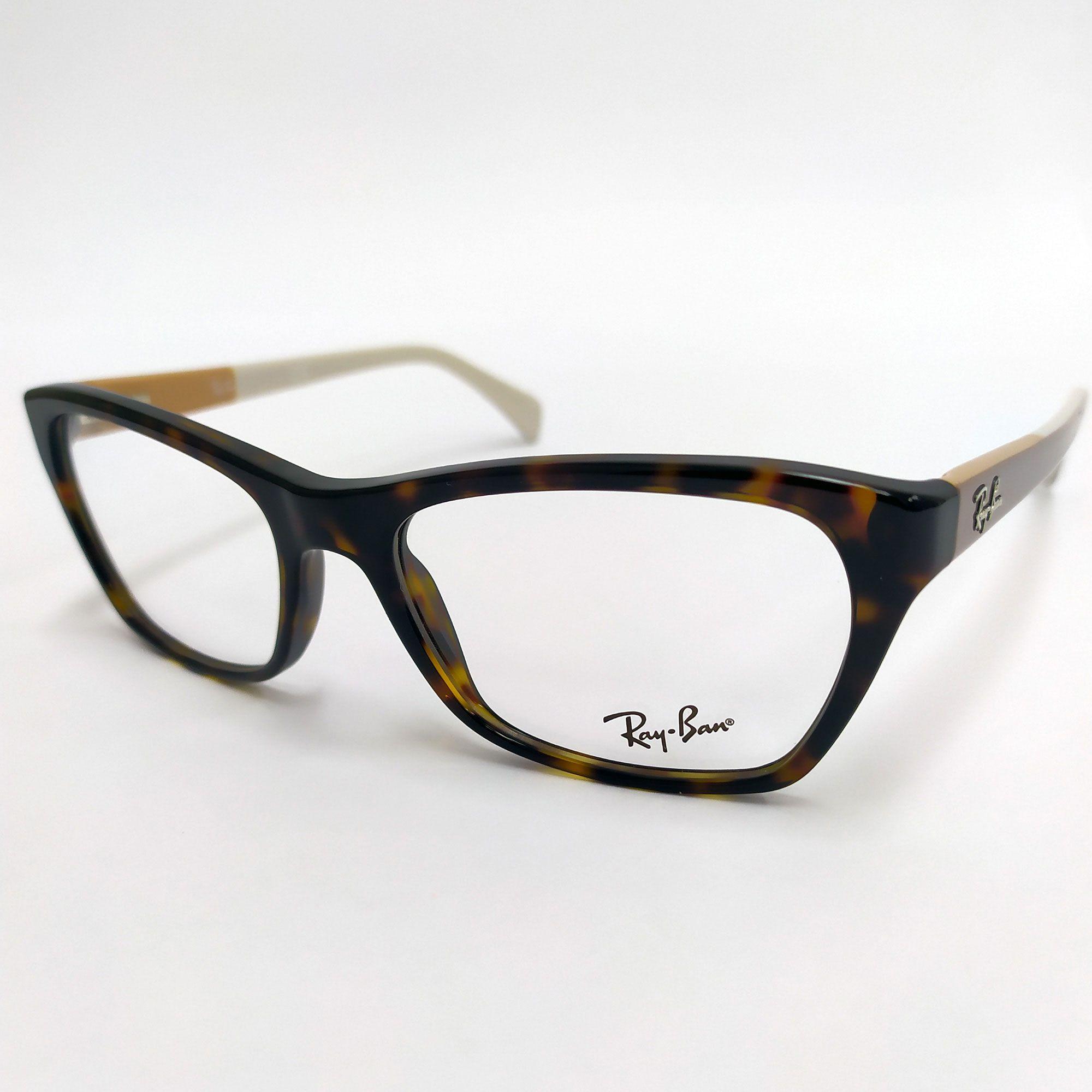Óculos de Grau Ray-Ban Tartaruga com Hastes Nude 5298