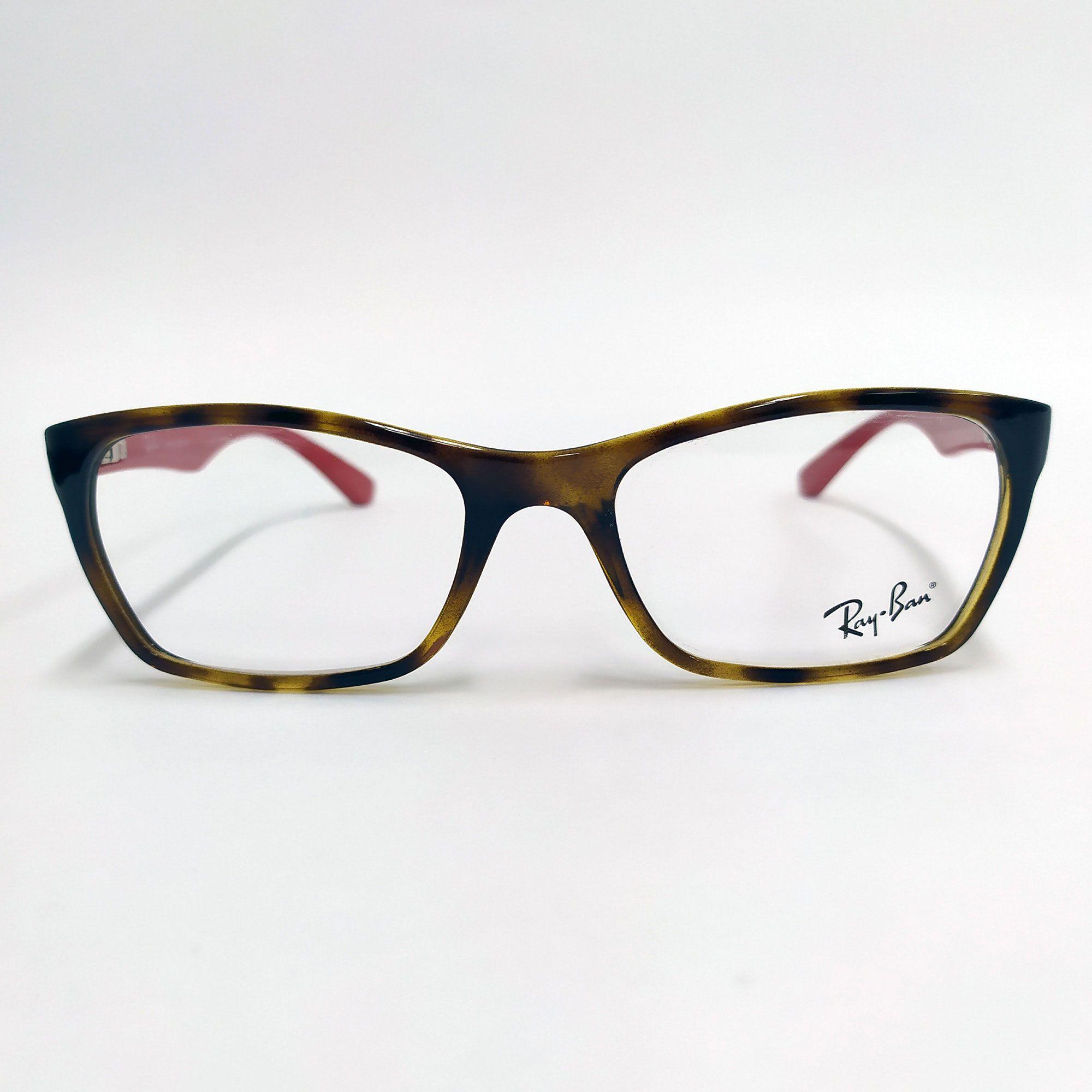 Óculos de Grau Ray-Ban Tartaruga com Hastes Vermelha RB7033L 5653
