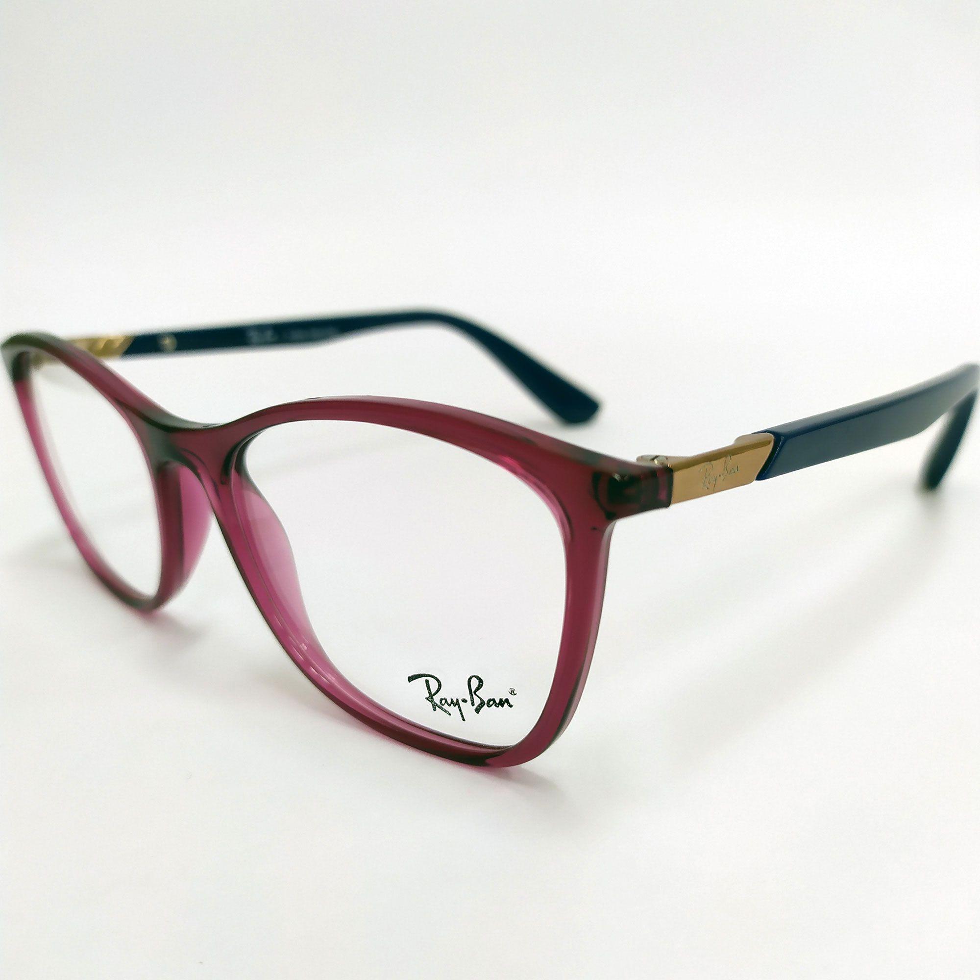 Óculos de Grau Ray-Ban Vermelho com Hastes Azul 7157L