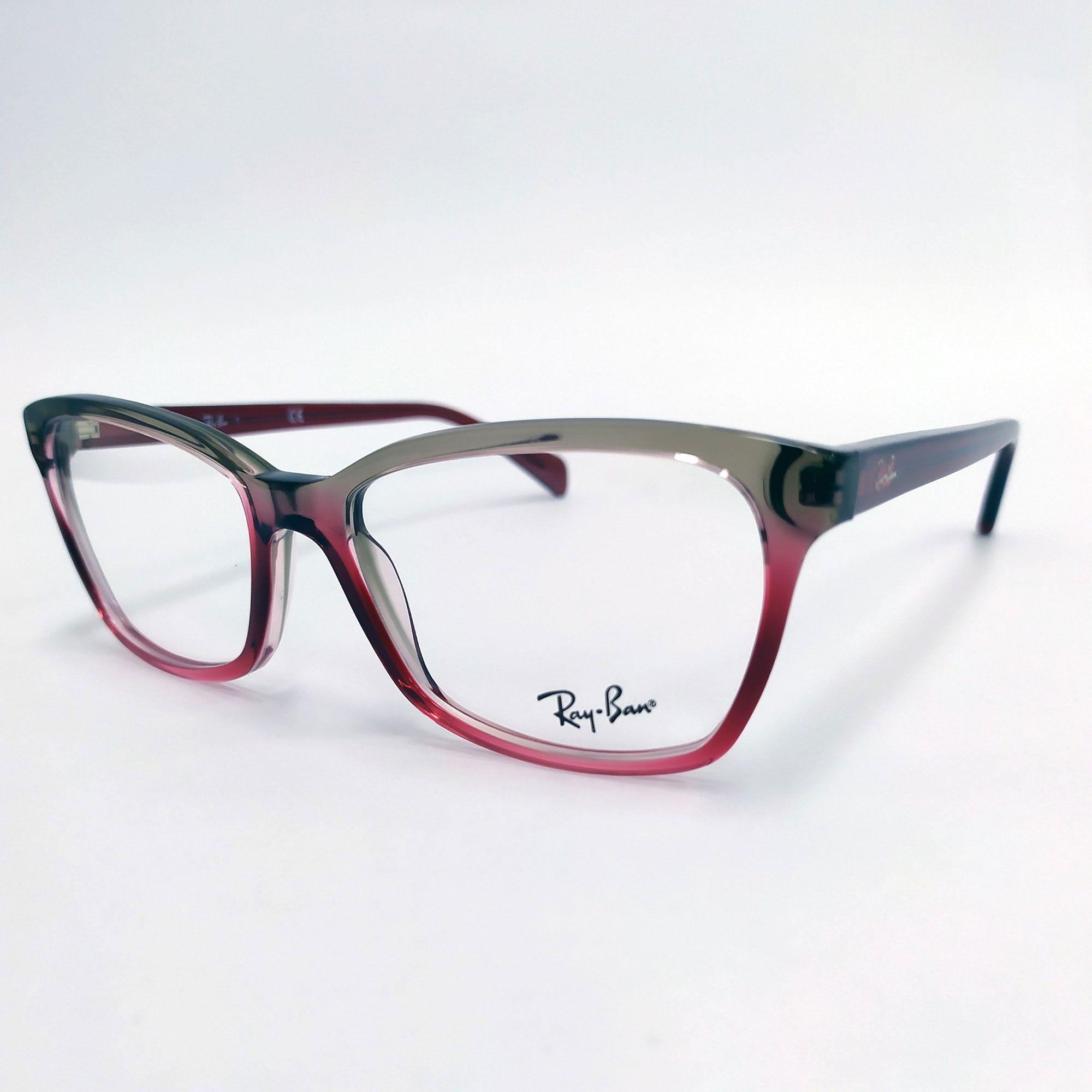 Óculos de Grau Ray-Ban Vermelho Transparente 5366