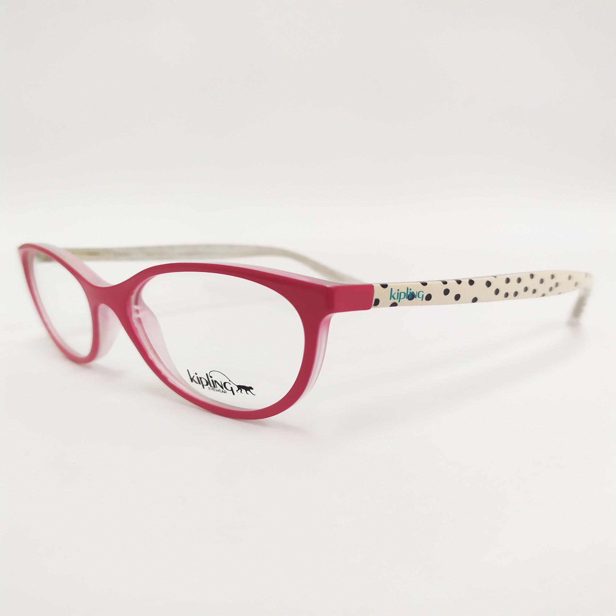 Óculos de Grau Rosa com Haste Branco Estampado 3108 F998