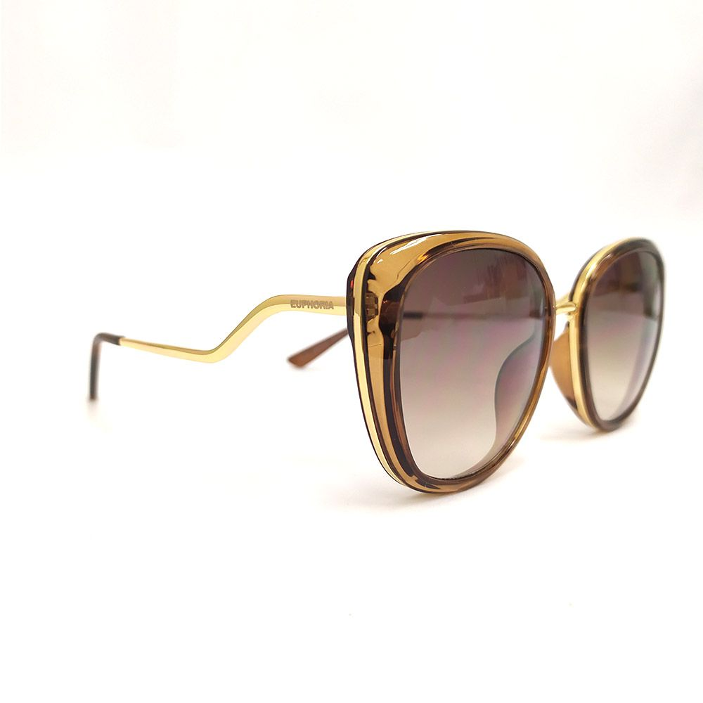 Óculos de Sol Euphoria Marrom Lente Marrom  21016 CB16-D2