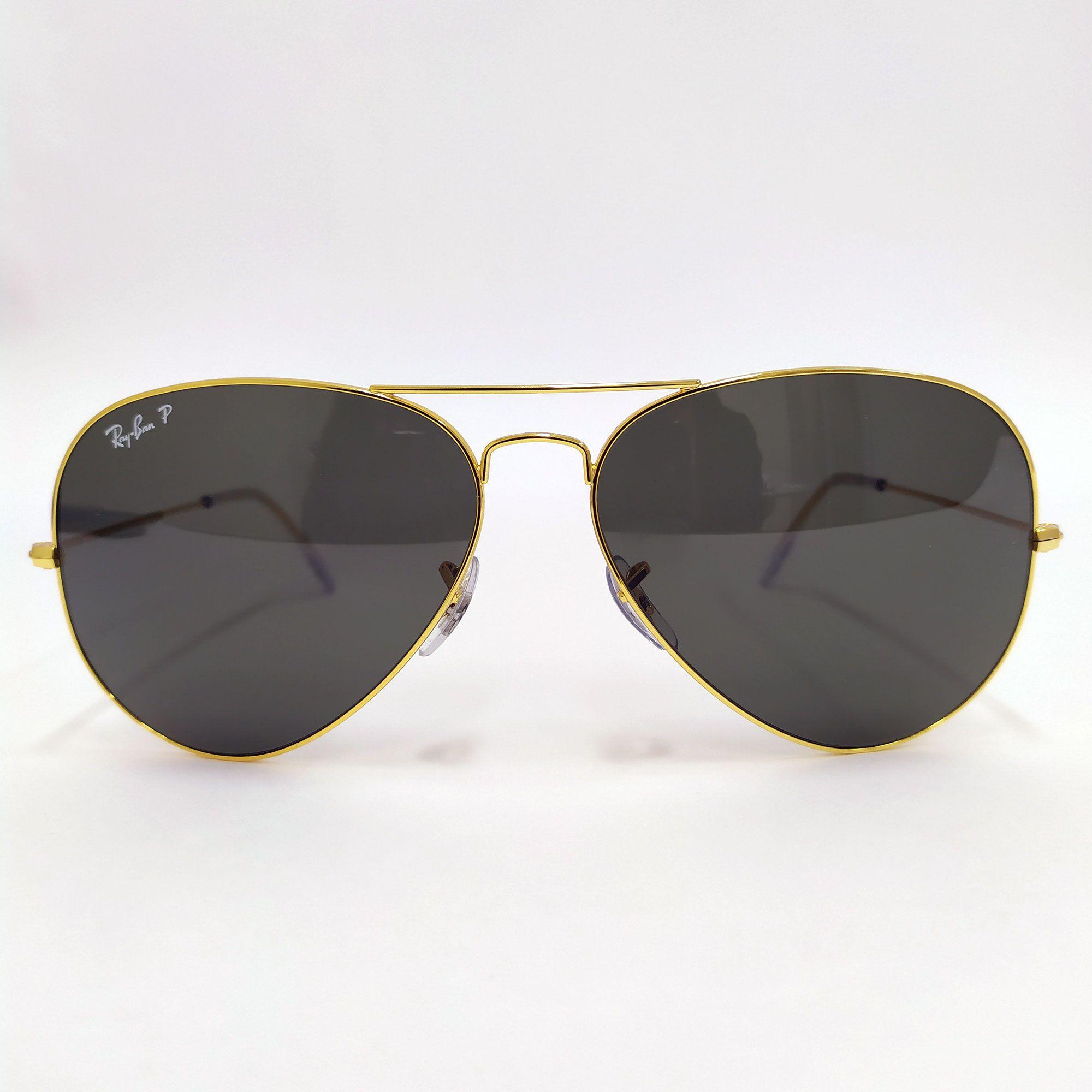 Óculos de Sol Ray-Ban Aviator Clássico com Lente  Verde Clássica G-15 3025