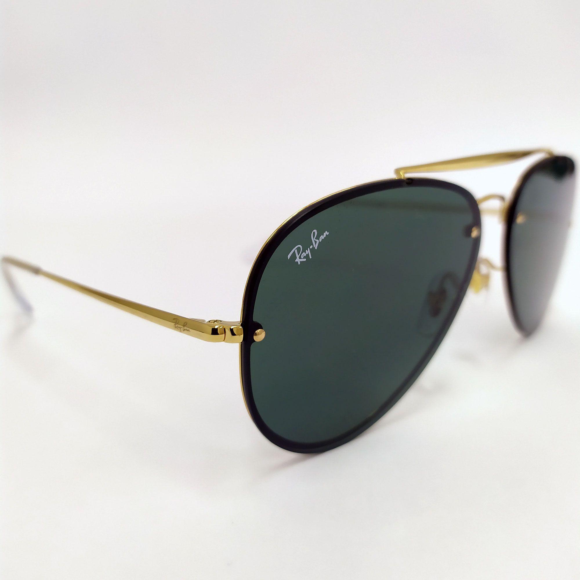 Óculos de Sol Ray-Ban Blaze Aviator com lente Verde Clássica 3584-N 9050