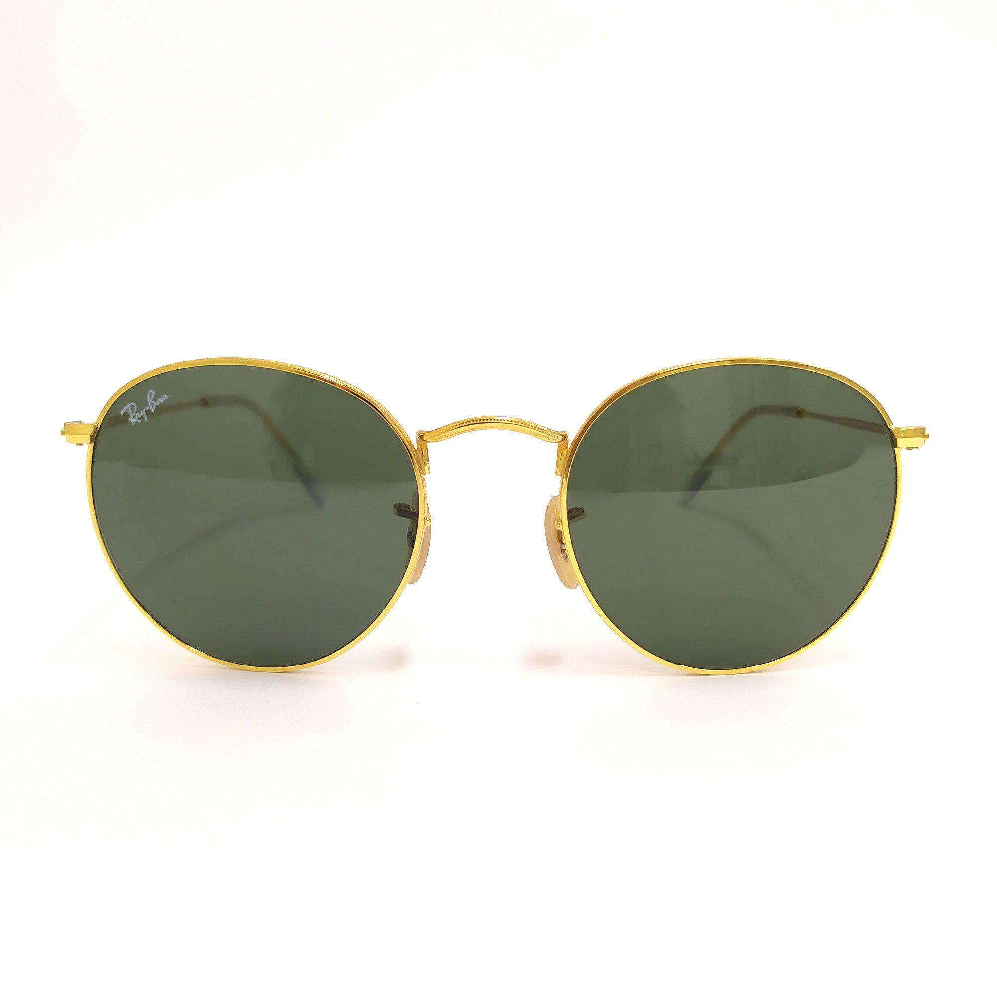 Óculos de Sol Ray-Ban Dourado Metal 3447-N