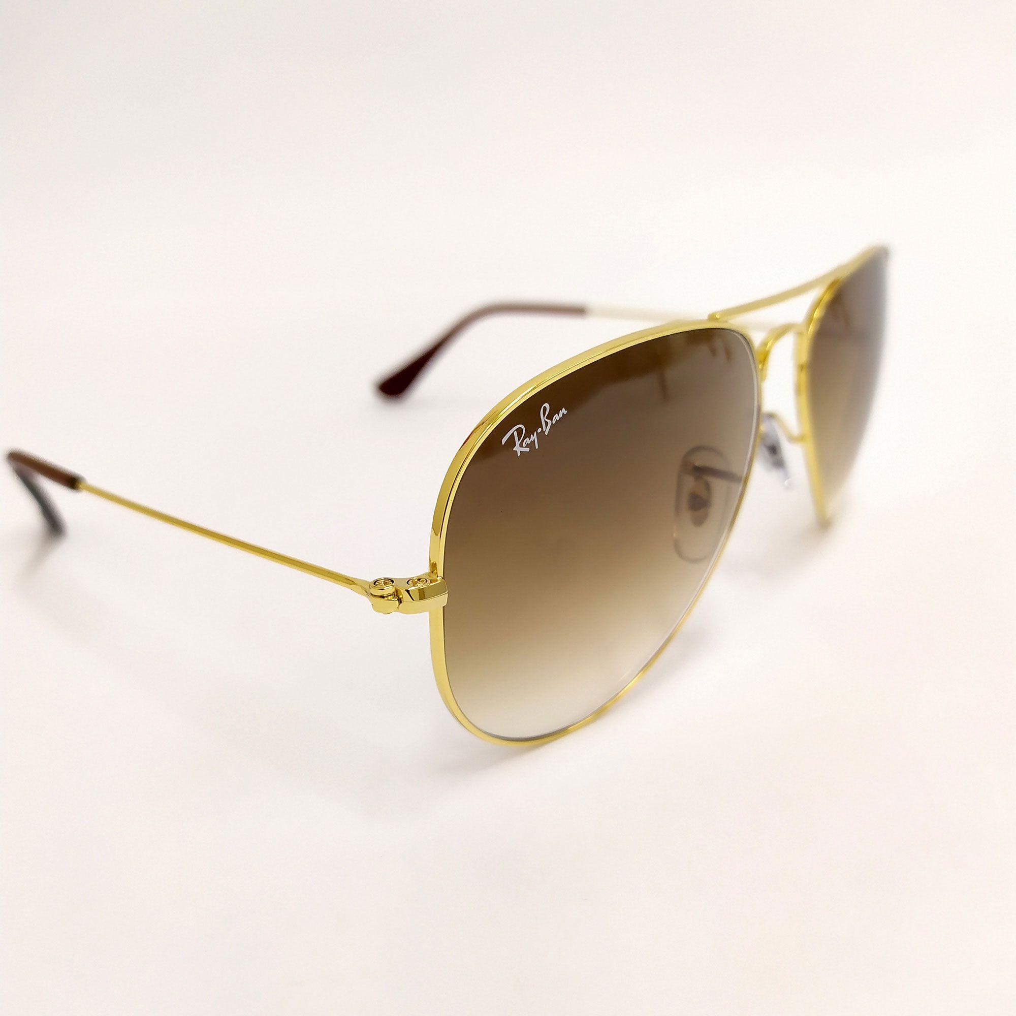 Óculos de Sol Ray-Ban Evolve Dourado com Lente Marrom Degradê 3025L