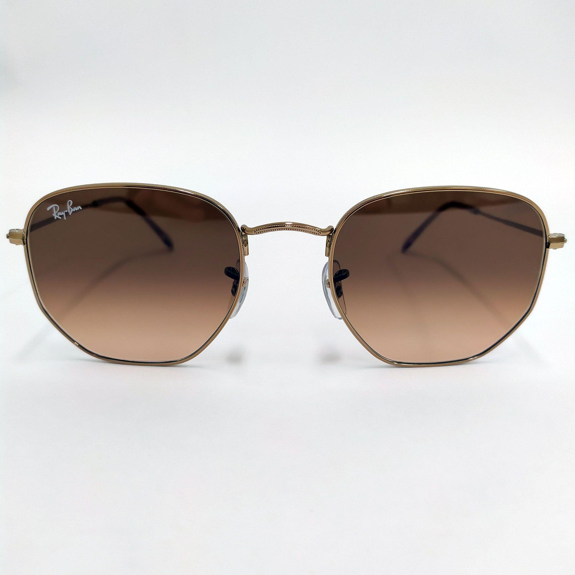 Óculos de Sol Ray-Ban Maeshal Bronze com Lentes Rosa/Marrom Degradê 3648NL
