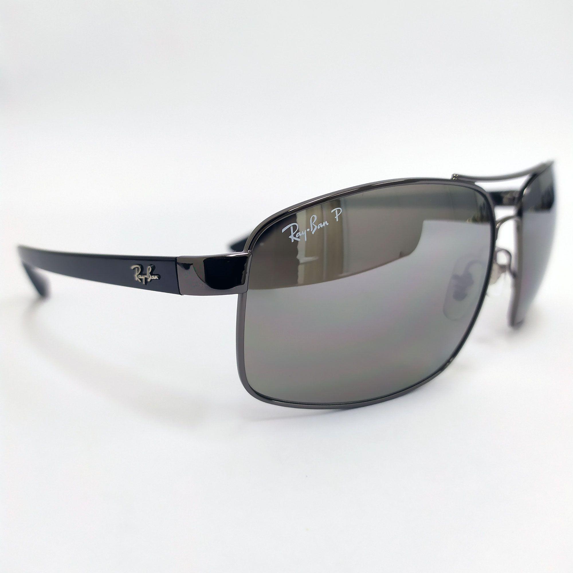 Óculos de Sol Ray-Ban Preto com Lente Espelhada 3604CH