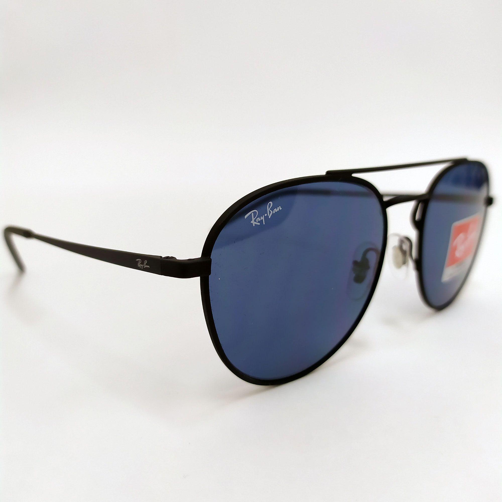 Óculos de Sol Ray-Ban  Preto com Lente Azul Clássica 3589