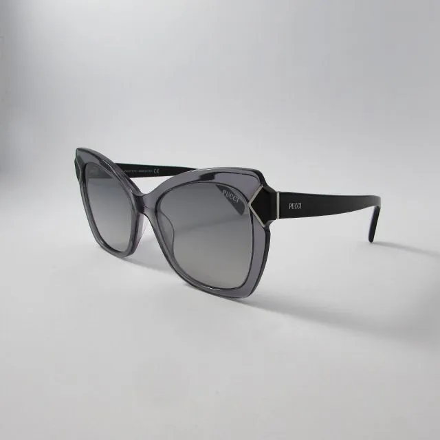 Óculos Solar Emillio Pucci - Cinza Transparente -Lente Cinza