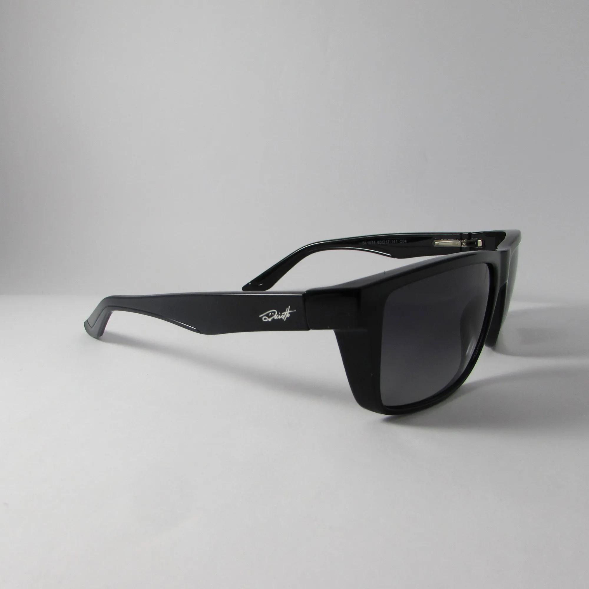 Óculos Solar Masculino - Preto - Haste larga