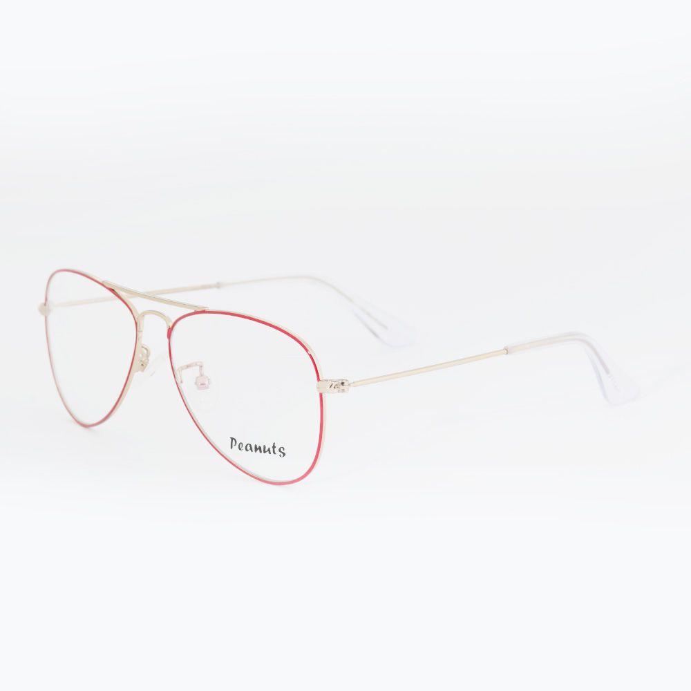 Óculos de Grau Peanuts Aviador Vermelho LR8373